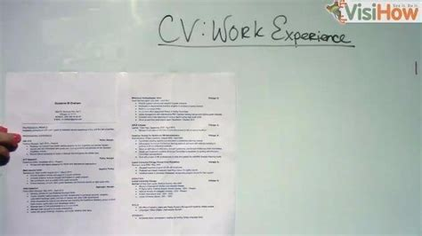 prepare and present a cv or resume visihow