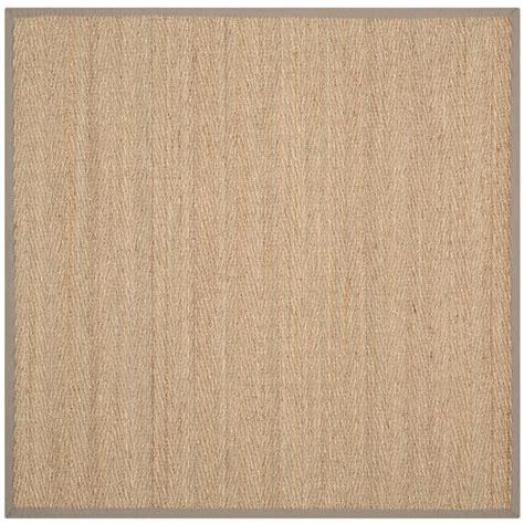grey beige rug safavieh fiber beige grey 6 ft x 6 ft square area rug nf115p 6sq the home depot