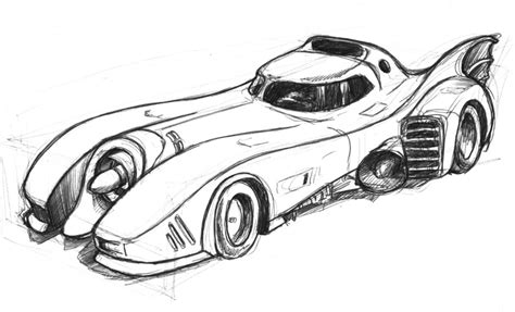 batman car drawing how to draw the batmobile
