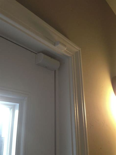 How To Install A Security Door by Door Sensor For Recessed Door Frame Opening Inward Home Security System