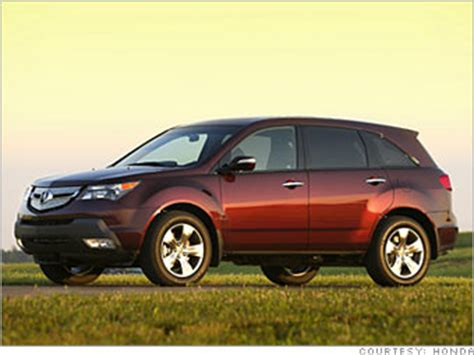 best resale value cars by type acura mdx (9) cnnmoney.com