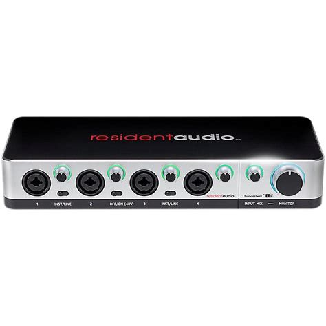 Resident Audio T4 resident audio t4 four channel thunderbolt interface musician s friend