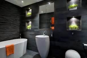 Black Bathrooms Ideas Couleur Salle De Bain En 55 Id 233 Es De Carrelage Et D 233 Coration