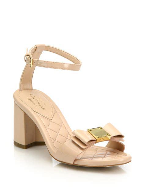 Sandal Tali Heels Rendah Shh2882 cole haan tali bow patent leather sandals in lyst