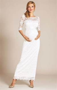 Pregnant Wedding Dresses Amelia Lace Maternity Wedding Dress Long Ivory Maternity Wedding Dresses Evening Wear And