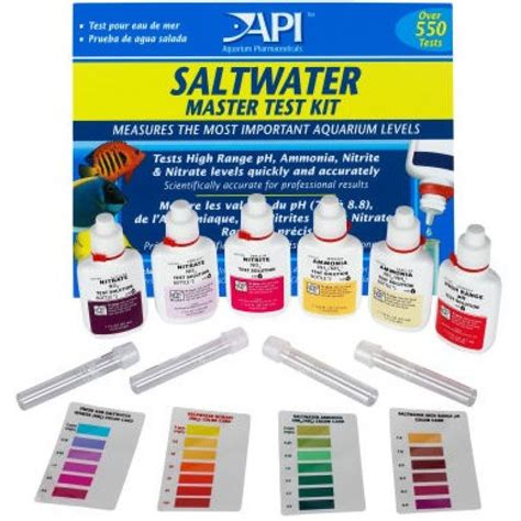 Sera Amonia Ammonia Test Kit api saltwater master test kit 6 bottles aquadunia