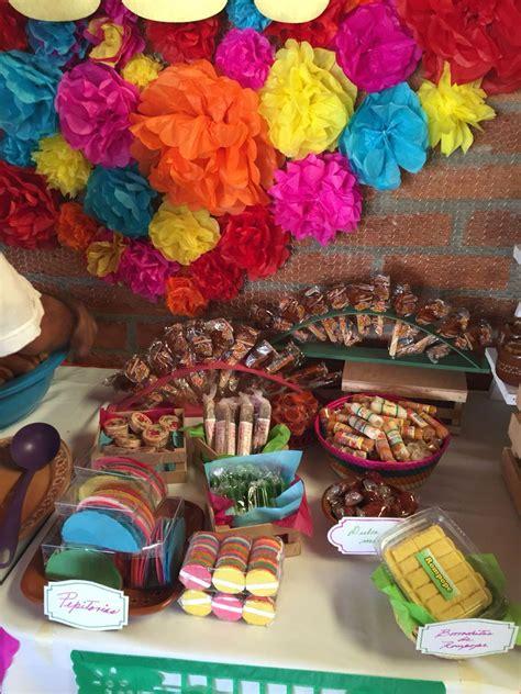 decorar mesa mexicana mesa de dulces baby shower mexicano de martina fiesta