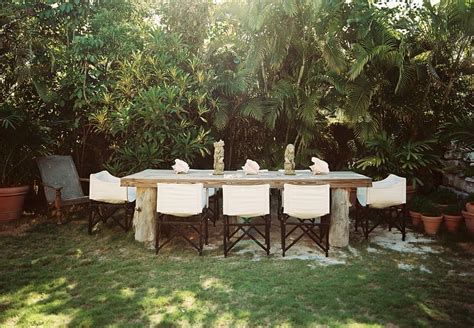 rustic outdoor table interior design ideas