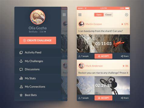 challenge app 15 free mobile app ui psd kits graphicsfuel