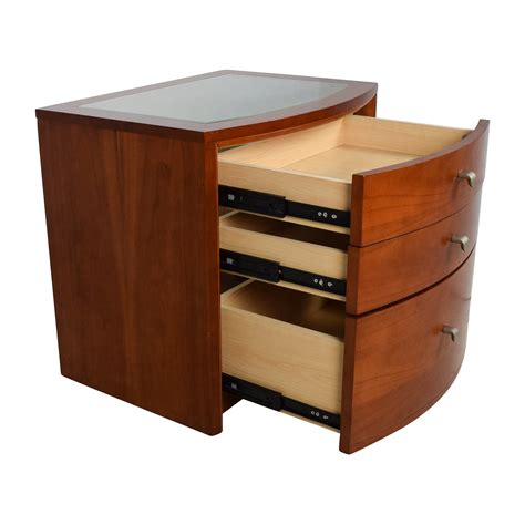 best bedside table 82 off unknown brown glass top bedside table tables
