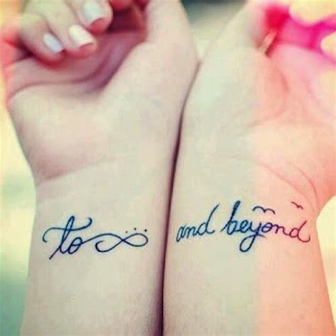 to infinity and beyond couple tattoo infinity tattoos and designs