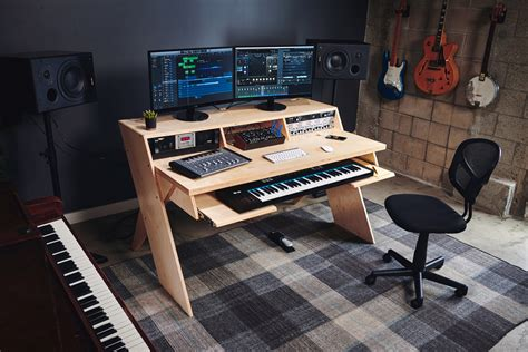 recording studio computer desk output launch platform a studio desk for musicians