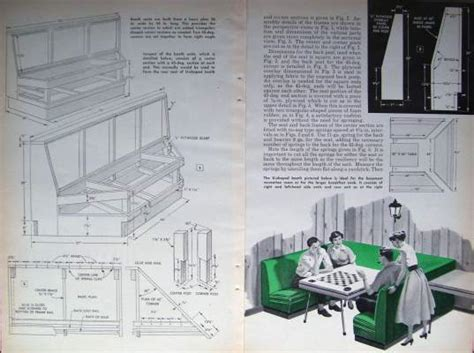 Building A Dining Room Booth How To Build 1950 S Restaurant Diner Style Kitchen Nook