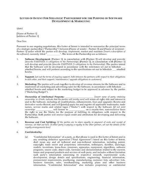 joint venture letter of intent template business letter of intent mughals