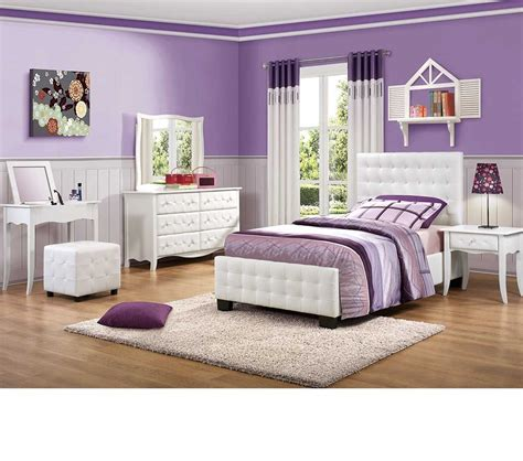 dreamfurniture sparkle upholstered bedroom set white