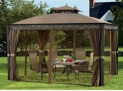 backyard netting outdoor gazebo with mosquito netting and privacy panels