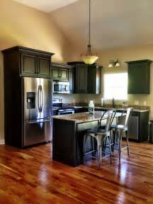 Hardwood Cabinets Kitchen by Gallery For Gt Dark Wood Kitchen Cabinets With Dark Wood Floors