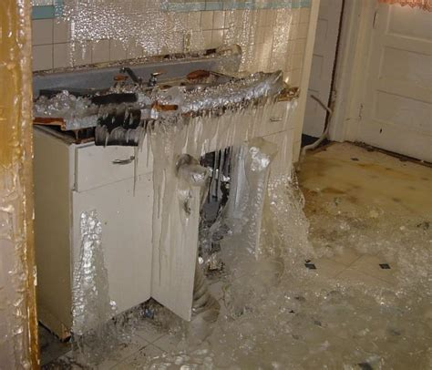 frozen bathroom pipes water pipe burst in basement photo a pipe burst in meyer s