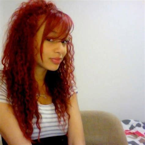 pictures of mixed race a line bobbed hair red curly hair mixed race model jennifer okolie