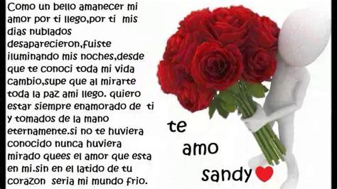 Imagenes Te Amo Sandy | te amo sandy mi amor j y s youtube