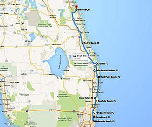 map of florida east coast florida east coast beaches map map