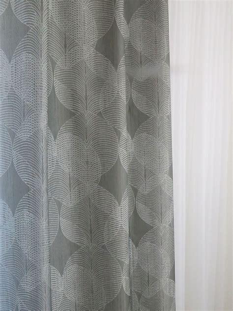 vorhang grau muster dekovorhang kiruna grau muster vorhangbox ch