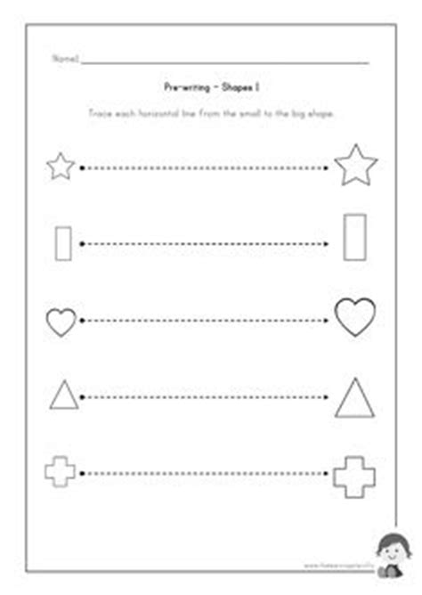Pre Writing Strokes Worksheets by Prewriting On Cutting Practice Cutting