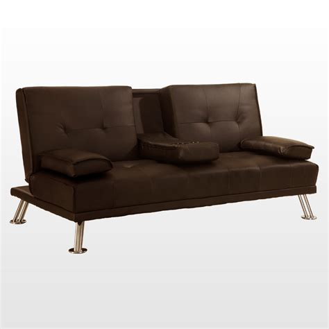 fold down sofa bed rome 3 seater sofa bed faux leather w fold down