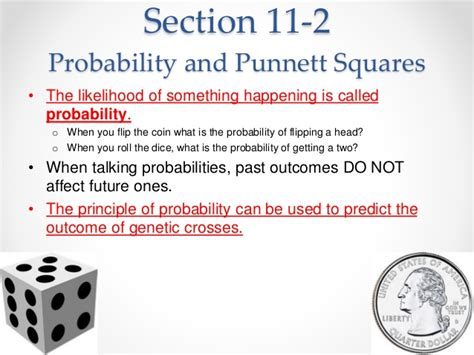 section 11 2 probability and punnett squares chapter 11 introduction to genetics