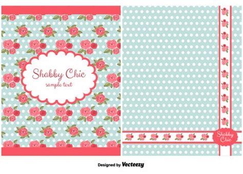Lace Shabi Blue shabby chic card vector free