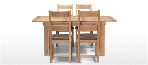 Oak Extending Dining Table And 4 Chairs Constance Oak 140 180 Cm Extending Dining Table And 4