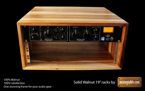Custom Home Plans And Prices 19 inch walnut racks for audio gear by mixingtable com
