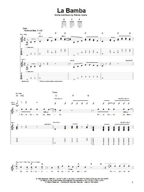 La Bamba Guitar Chords