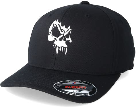 collective tattoo angry skull black flexfit collective caps