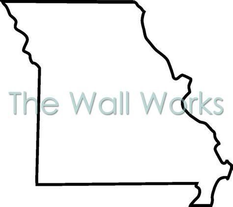 Missouri State Outline by Custom Vinyl Lettering Missouri Outline Vinyl Decal The Wall Works