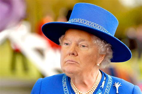 queen elizabeth donald trump someone is photoshopping trump s face on the queen and