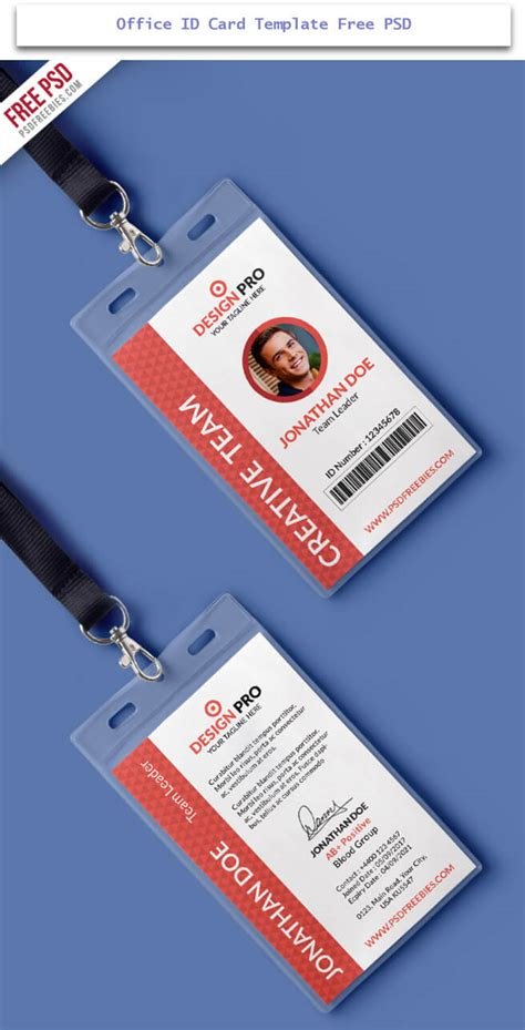 office id card template free 30 creative id card design exles with free