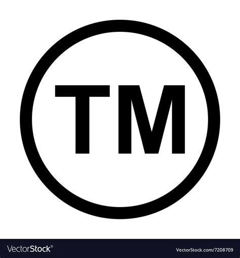 Trademark Image trademark symbol icon royalty free vector image