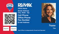 RE/MAX Real Estate Business Cards QR Code with Photo