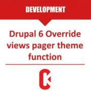 drupal template override drupal 6 override views pager theme function code karate