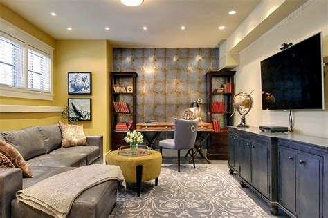 decorated home basement home office design and decorating tips