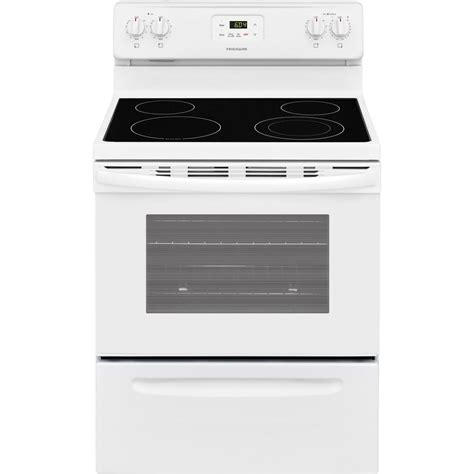 frigidaire 30 in 4 9 cu ft electric range in white