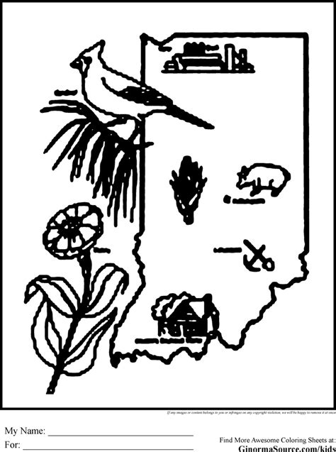 indiana university coloring page state of indiana coloring pages coloring pages