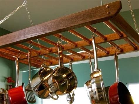 Kitchen Ceiling Pan Holders How To Build A Hanging Pot Rack How Tos Diy