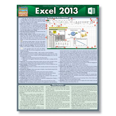 excel tutorial reference excel 2013 reference guide for learning excel 2013
