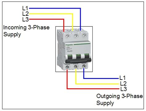 how to wire 3 pole circuit breaker elec eng world