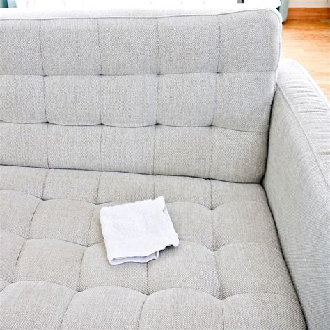how to clean blood from fabric sofa how to clean a natural fabric couch popsugar smart living