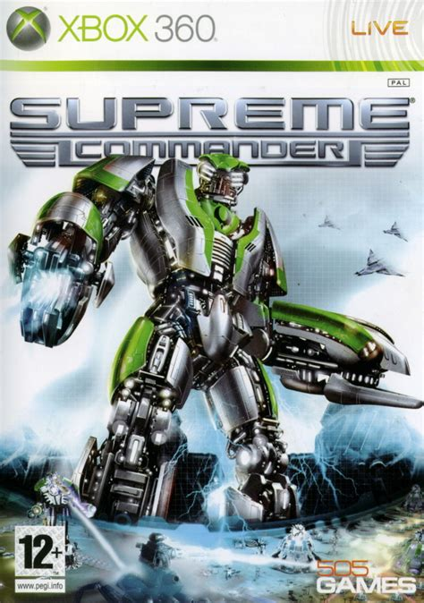 supreme commander supreme commander for xbox 360 2008 mobygames