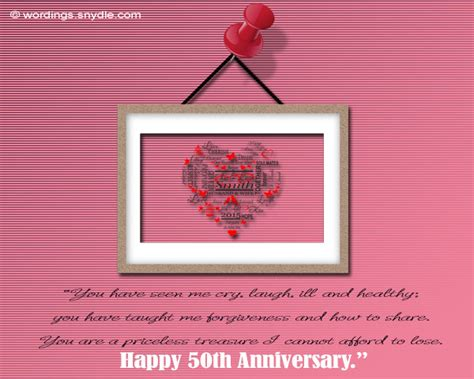 Wedding Anniversary Messages For Wordings by 50th Wedding Anniversary Messages Wordings And Messages