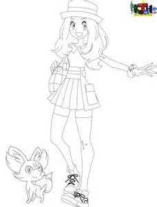 Serena And Fennekin Coloring Pages Sketch Page sketch template